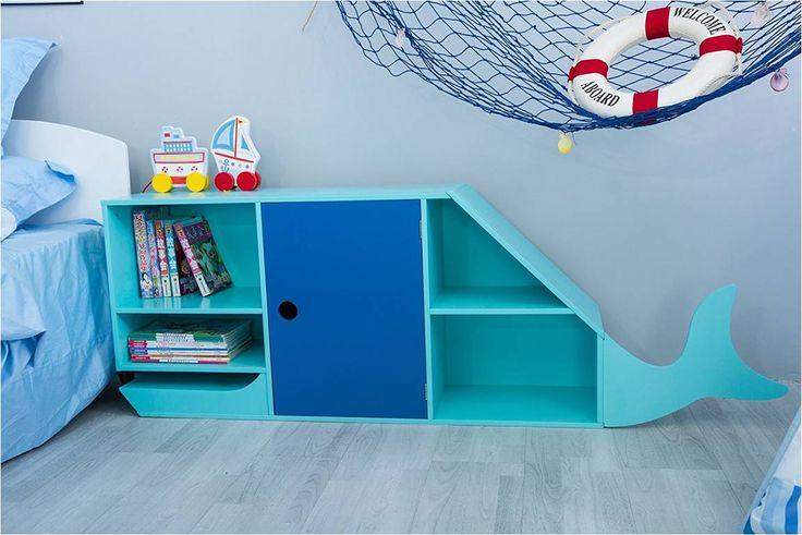 "Wunderbares Kinderzimmer Regal ""Blauwal"" 29 günstiger"