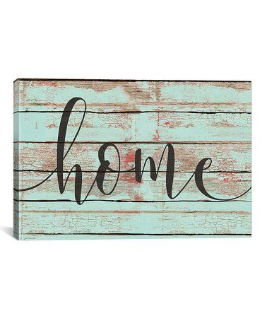 Loving this 'Home' Wrapped Canvas on #zulily! #zulilyfinds