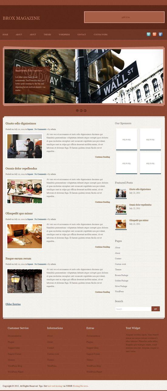 Brox – Free WordPress Theme:  Brox Magazine free Blog, Personal WordPress Theme.