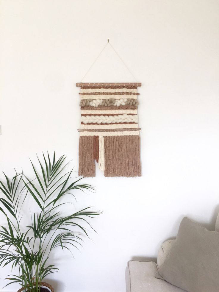 Woven wall hanging by Swaysmade on Etsy https://www.etsy.com/au/listing/476559805/woven-wall-hanging