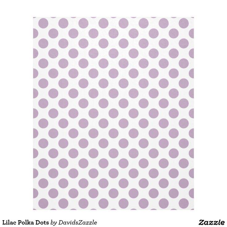 Lilac Polka Dots Fleece Blanket