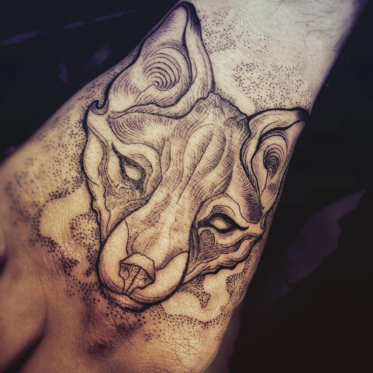polite as kitsune tattoo ink inked fox foxtattoo kitsune blackworkers linework dotwork. Black Bedroom Furniture Sets. Home Design Ideas