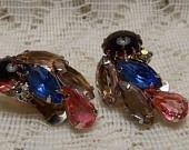 Gorgeous!: Dogs Tooth, Rhinestones, Ecochic Treasury, Vintage, Plutast Purple, Ecochic Team, Juliana Style, Jewelry, Earrings