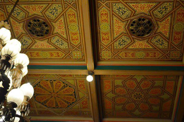 Maimun Palace Patterned Ceiling, Medan, North Sumatra, Indonesia