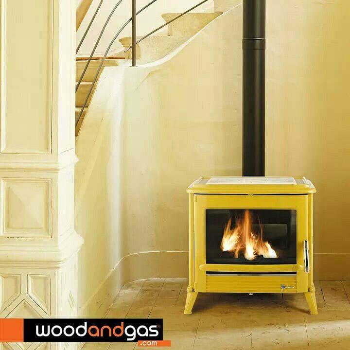 #Invicta yellow wood #stove