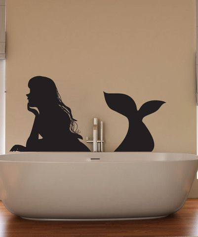 Vinyl Wall Decal Sticker Resting Mermaid #OS_DC798 | Stickerbrand wall art decals, wall graphics and wall murals.