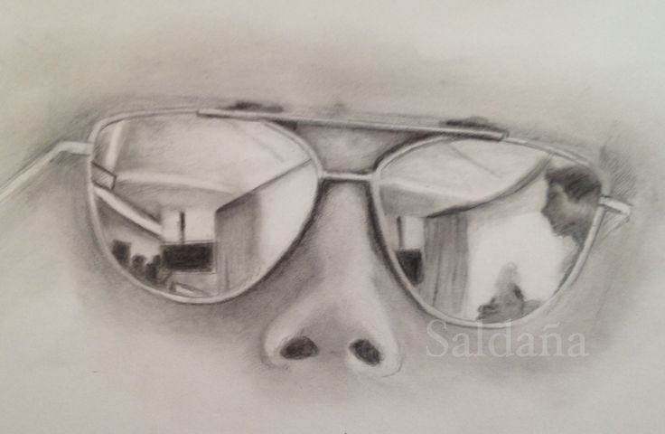 Glasses by T Saldaña Graphite on Strathmore Bristol