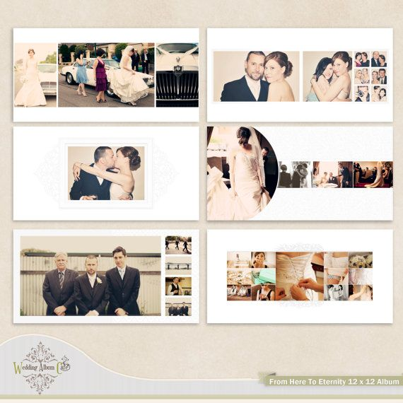 Classic wedding design Album Template. Whcc 12 x 12 Photographers album template