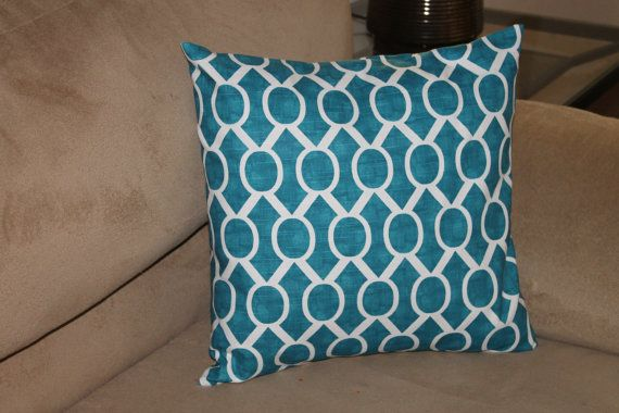 Teal Pillows - Teal Pillow Cover - Teal Throw Pillow Cover