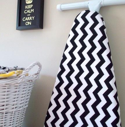 .Ironing Boards, Black And White, Chevron Iron, Laundry Rooms, Covers Black, Riley Blake, Chevron Prints, Chevron Obsession, Iron Boards Covers