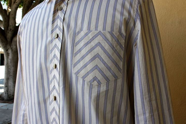 The Chevron Latte Shirt, Part 3 - Line of selvage