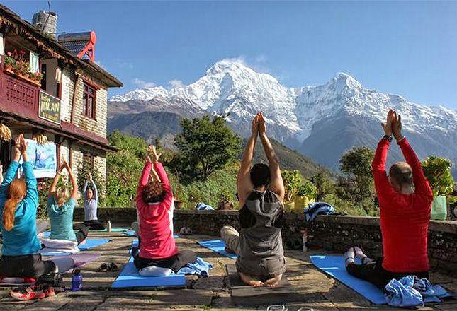 Namaste Vinyasa Yoga Retreat – Nepal : 26 Oct – 8 Nov, 2015 – Enjoy mountain view yoga and meditation #nepal #yogaretreat