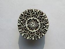 Индийский ручной работы из текстиля штамп ксилографическая цветочный печать деревянный блок