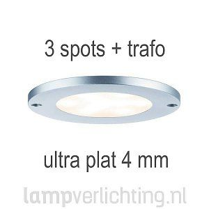 Platte LED Opbouw Spots Rond 3x4W #inbouwspot #meubelverlichting #ledverlichting