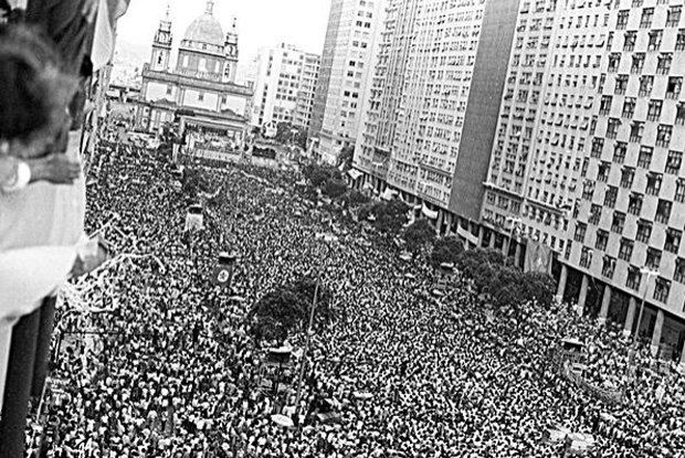 brazil+diretas+ja | Comício das Diretas, em abril de 1984: avenida voltou ontem a ser ...