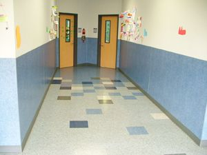 vct hallway random color pattern might work - Vct Pattern Ideas