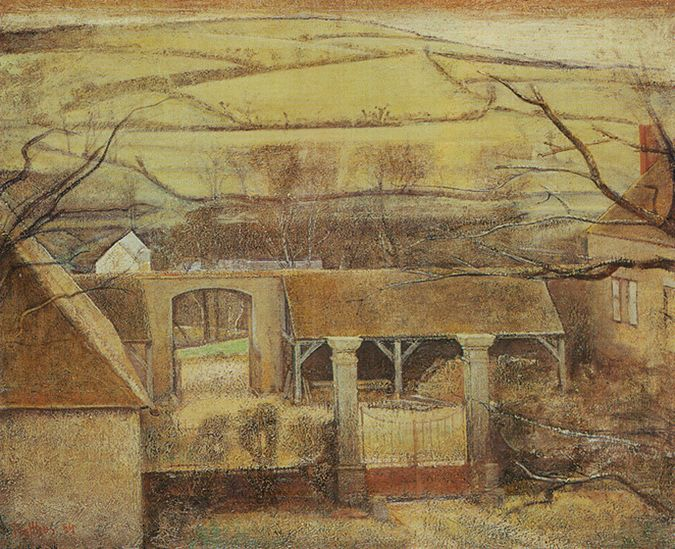 Balthus Cour De Ferme 224 Chassy 1954 Oil On Canvas