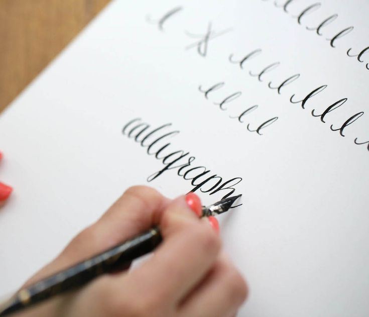 Learn calligraphy online - free - with this easy step-by-step tutorial & complimentary printables.: