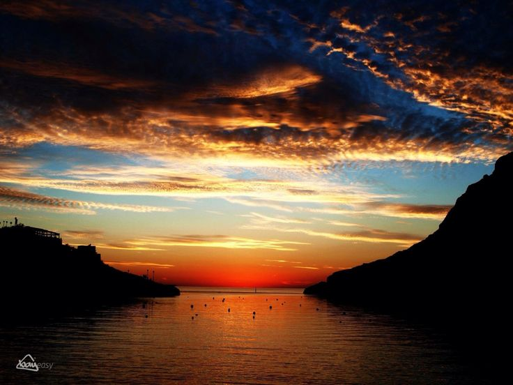 Sunset over Xlendi Bay, Gozo, Malta