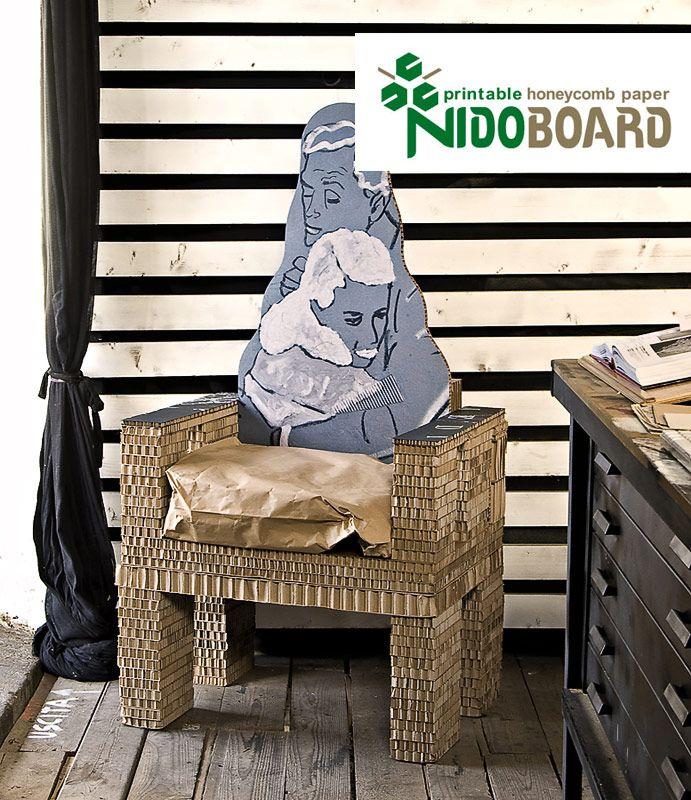 Cartone alveolare per stampa digitale, cartone alveolare nido d'ape stampabile | Nidoboard