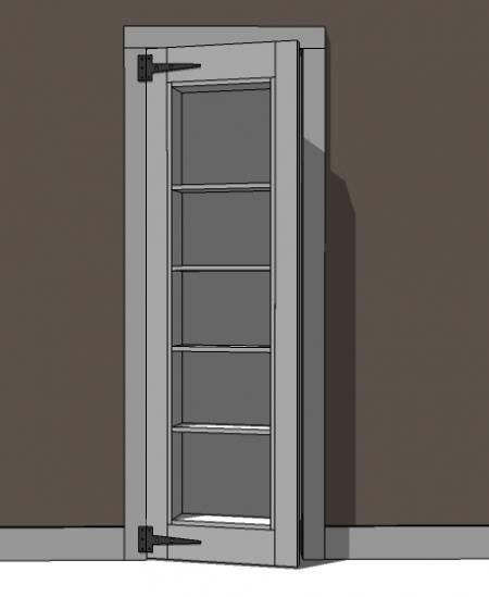 A doorway bookshelf that opens. How cool would it be to turn your pantry door into something like this and store your cookbooks on the shelves?!