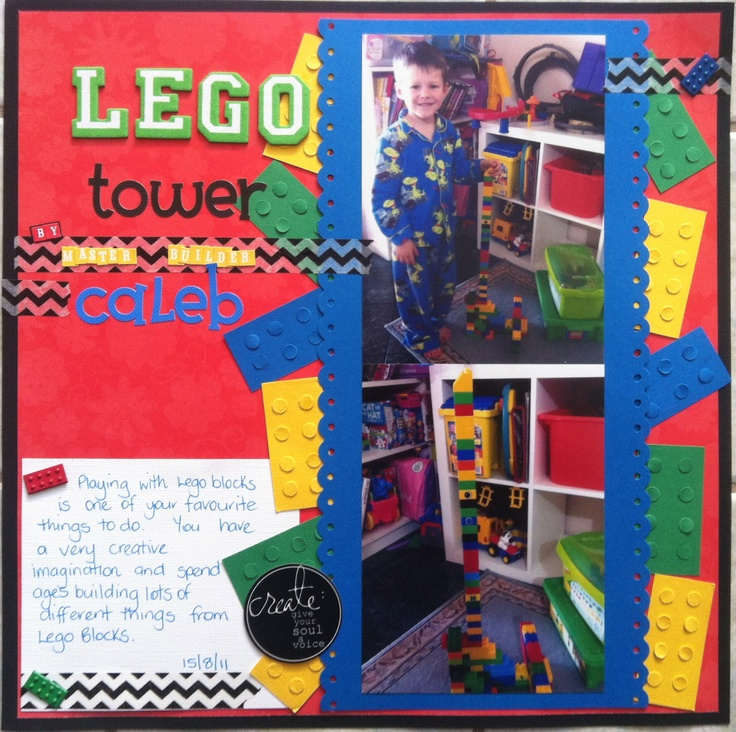 Lego, took ages making the blocks, but I love the finished look of it all. ox