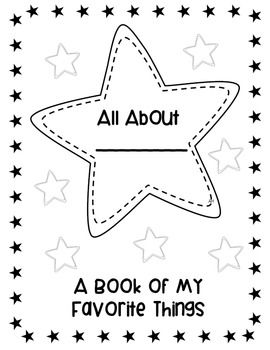 """FREE printable """"All About Me"""" book for back to school!"""