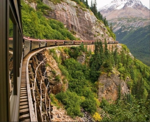 Skagway, White Horse and Yukon Railroad, Alaska   I'll bet the scenery is fantastic on this ride.