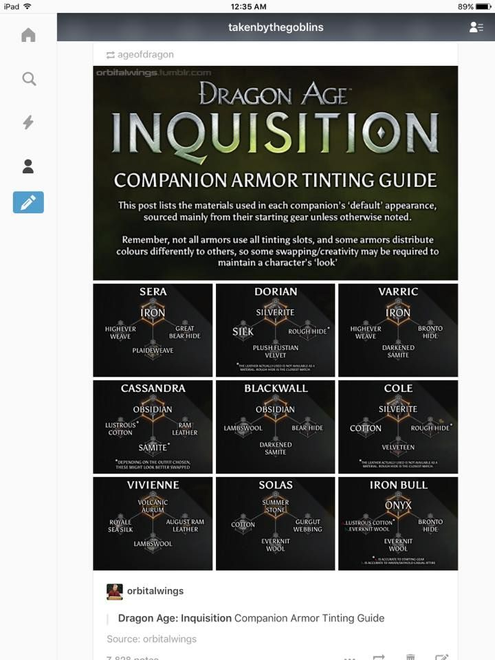 Dragon age companion armour tinting guide