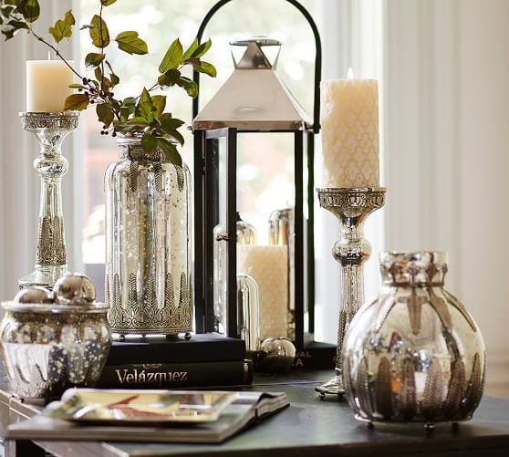 Traditional Acanthus Leaf Motifs Give These Shimmering Vases The Look Of  Victorian Antiques. Find This Pin And More On Pottery Barn   Home  Accessories ...