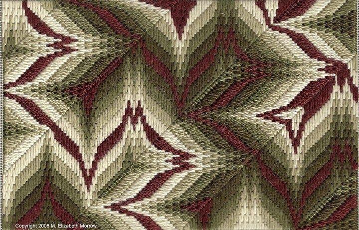 Diagonals needlepoint bargello by liz morrow