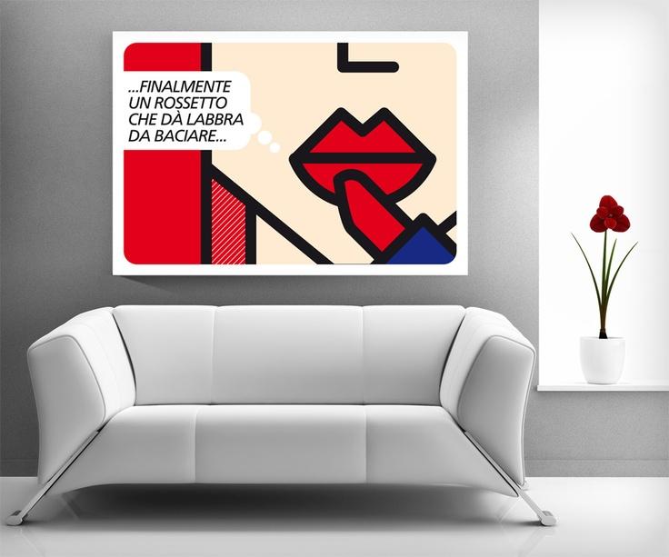 'Rossetto rosso sulle labbra' Computer art Unlimited/2008