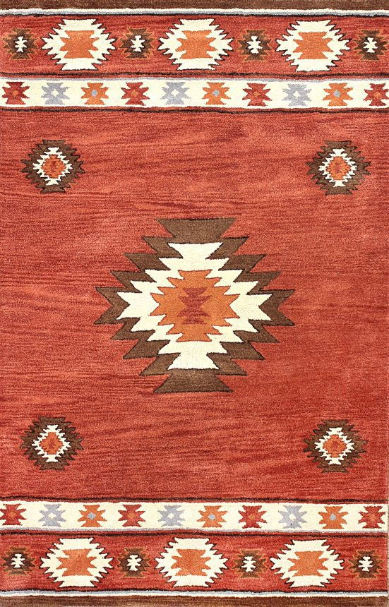 Savanna Southwestern VE04 Wine Rug | Contemporary Rugs #RugsUSA