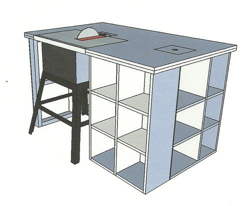 Contractor Table Saw Cabinet Plans Woodworking Projects