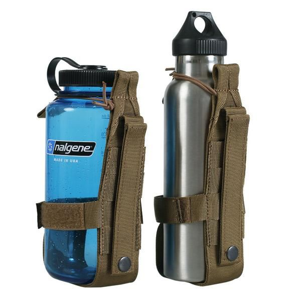 OneTigris Minimalist Tactical Molle Water Bottle Holder This minimalist design bottle holder is such a simple hands-free solution, just makes you cool and keep the water within easy reach Elastic rope