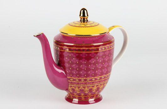 Sari Teapot Fuchsia   T2 Tea