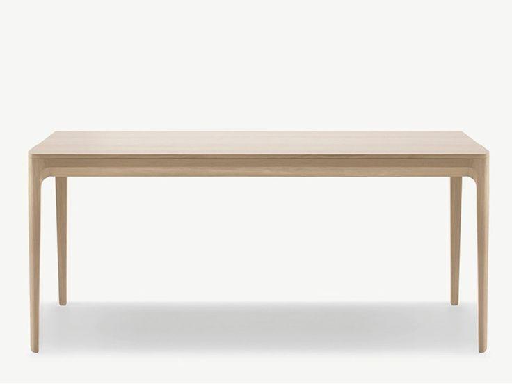 Rectangular wooden table Biga Collection by ALKI   design Jean Louis Iratzoki