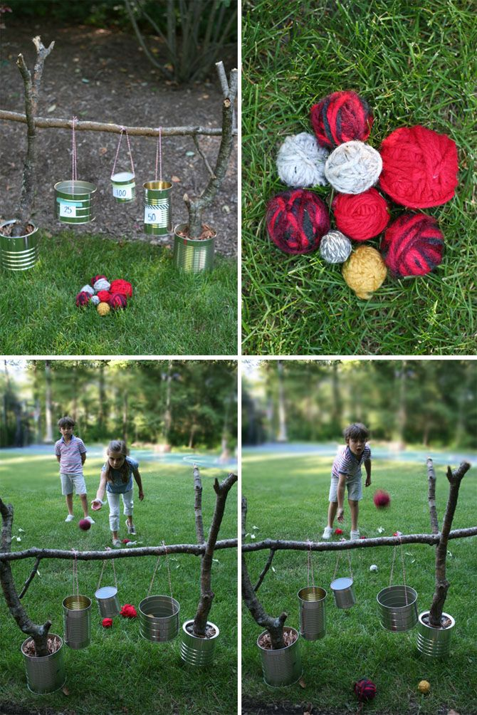 We definitely have enough sticks outside to make this game. Cute! Something fun and different to do outside.