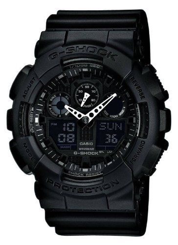 G-SHOCK+The+GA+100+Military+Series+Watch+in+Black,Watches+for+Men