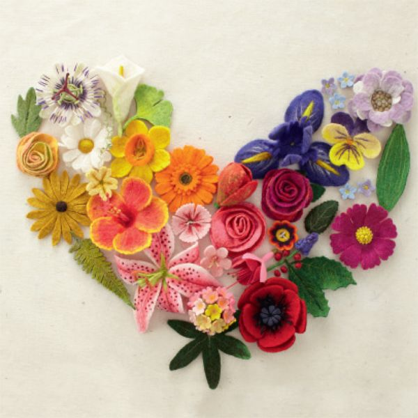 """This is an image from my book : """"Felting Fabulous Flowers"""" by Gillian Harris - signed copies are available on our website"""