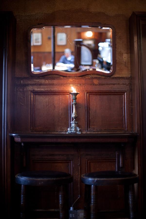 A cosy corner to enjoy a bottle of Saint.