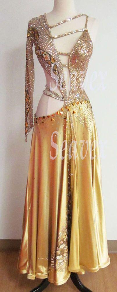 K3532 Elegant Ballroom gown women salsa tango waltz standard dance dress UK 6