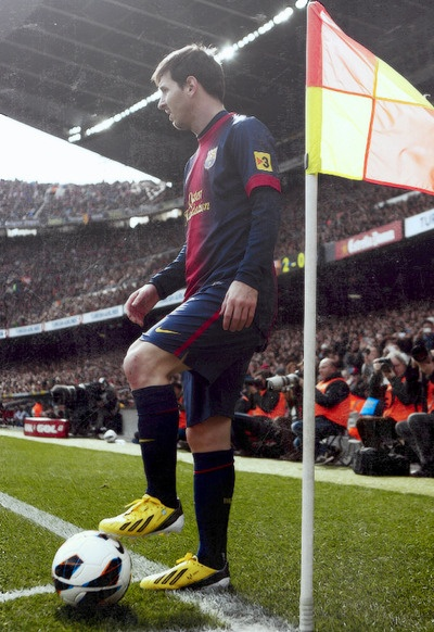 Messi. my cousin played a soccer game against him last month (: