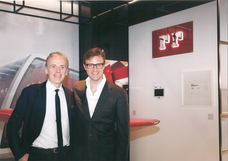 Our president Alessandro Aduso together with Ferrari Store designer Massimo Iosa Ghini at Triennale in Milan - April 2013
