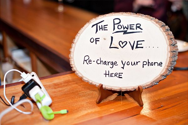 Don't forget the small details that make your reception special. Your family and friends will appreciate a convenient charging station.