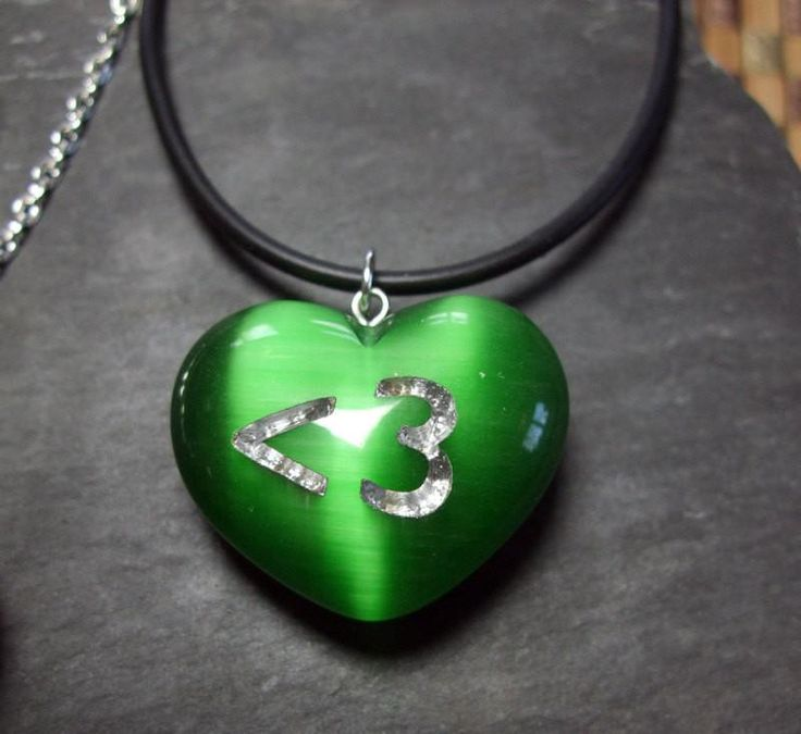Show your Green - Less than 3 Emoticon - Wicked Green Heart Geek Necklace