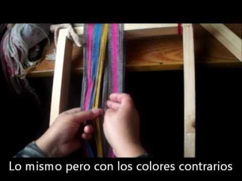 Ojo de guanaco, Ñe luan, Telar Mapuche Parte 3 final.