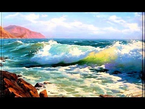 Learn to paint sea with ease. Seascape oil painting tutorial. Palette knife painting with acrylics - YouTube