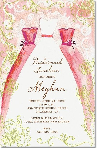 Stand By Me Bridesmaid Luncheon Invitations - Creations By Leslie