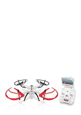 World Tech Toys Sonic 2.4Ghz 4.5Ch Live Feed Video Electric Gimbal Rc Drone - White - No Size